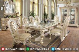 Set Meja Makan Ukir Klasik Mebel Jepara Mewah Terbaru MM-0446