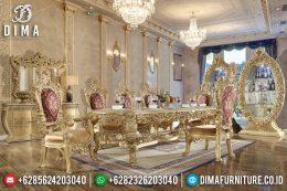 Set Meja Makan Ukir Mewah Klasik Duco Terbaru MM-0445