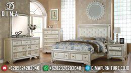 Set Tempat Tidur Minimalis Modern Putih Terbaru MM-0487