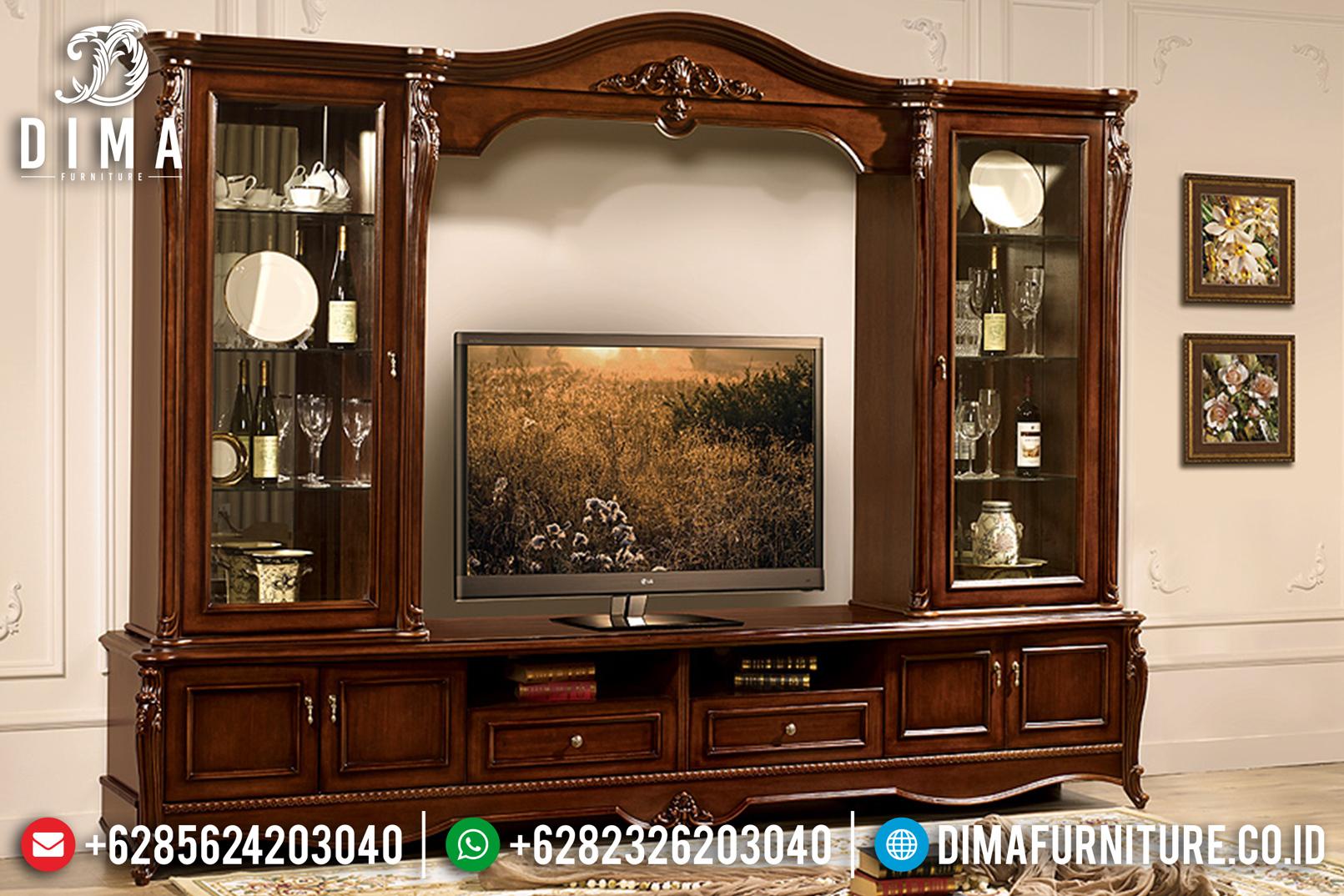 Bufet Tv Klasik Mewah Modern Natural Terbaru MM-0514