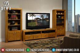Set Bufet Tv Jati Klasik Modern Mewah Terbaru MM-0505