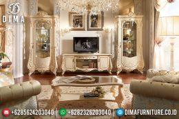 Set Bufet Tv Mewah Ukir Mebel Jepara Klasik Terbaru MM-0537