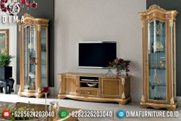 Set Bufet Tv Natural Jati Mewah Terbaru MM-0519