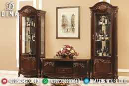Set Bufet Tv Natural Jati Ukir Mebel Jepara Terbaru MM-0543