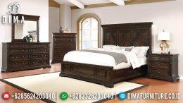Set Kamat Tidur Minimalis Modern Jati Natural Terbaru MM-0570