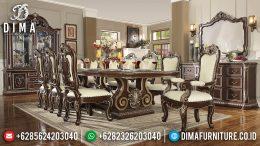Set Meja Kursi Makan Jati Mewah Klasik Modern Terbaru MM-0562