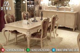 Set Meja Kursi Makan Klasik Duco Mewah Terbaru MM-0509
