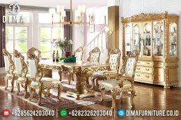 Set Meja Kursi Makan Mewah Duco Emas Klasik Terbaru MM-0515