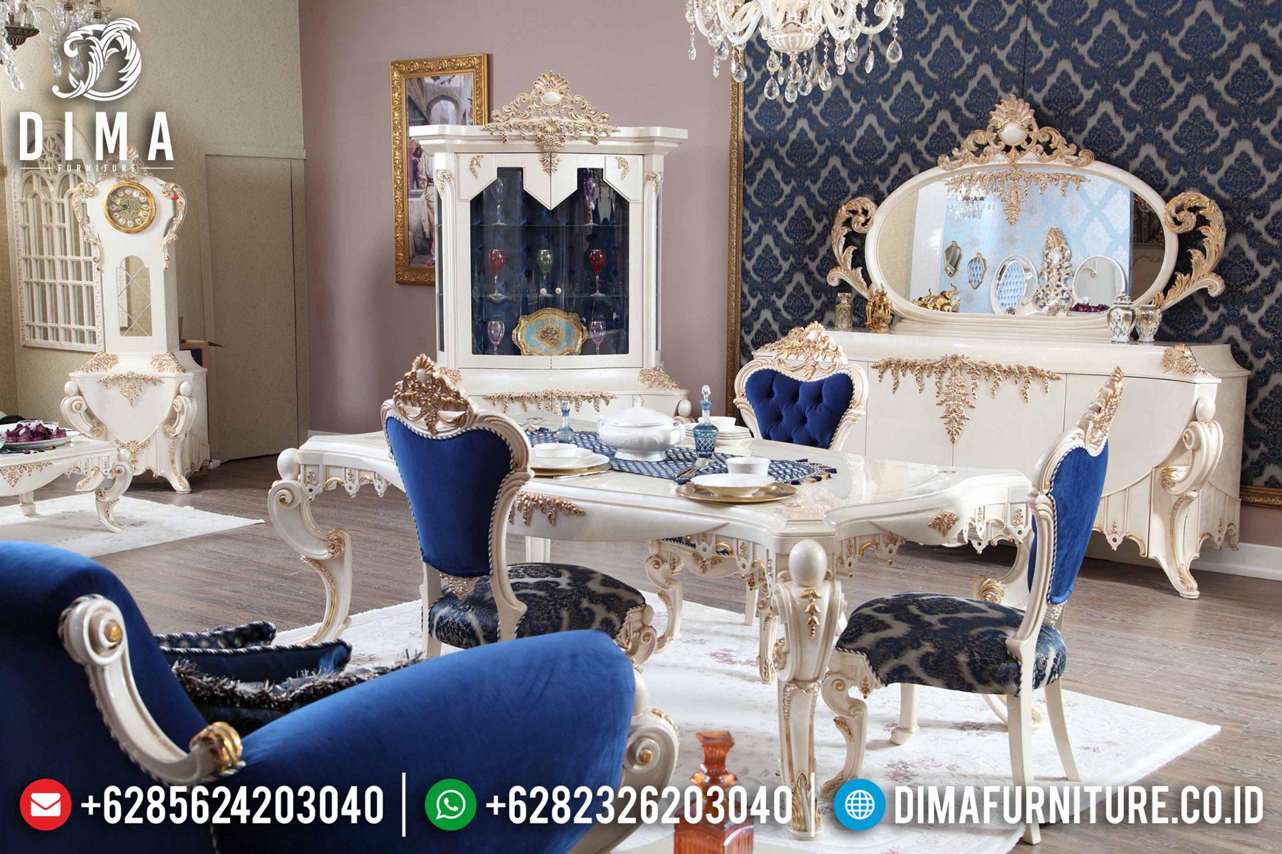 Set Meja Makan Eropa Klasik Duco Mewah Terbaru MM-0548
