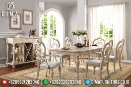 Set Meja Makan Klasik Modern Mebel Jepara Terbaru MM-0547