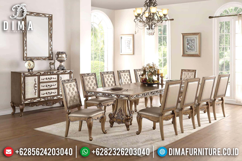 Set Meja Makan Klasik Modern Mewah Jepara Terbaru MM-0522