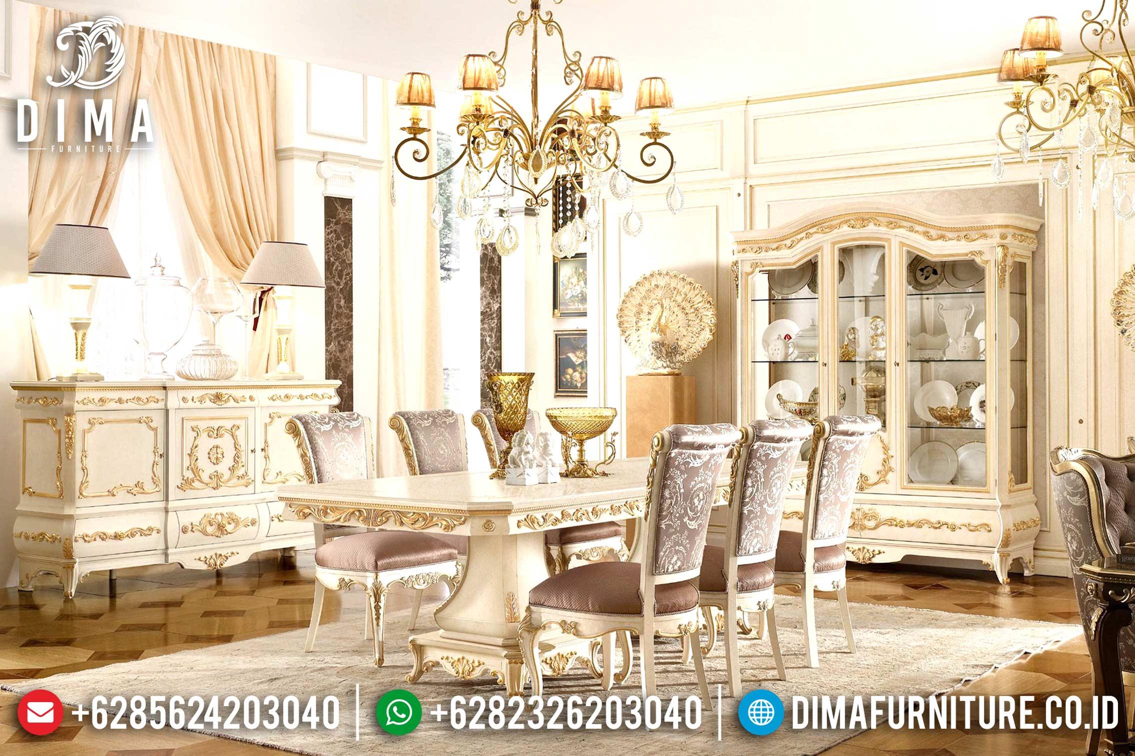 Set Meja Makan Mewah Klasik Duco Terbaru MM-0521