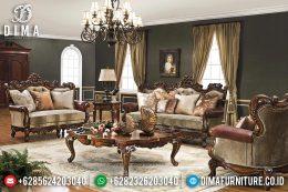 Set Sofa Tamu Mewah Jati Ukiran Jepara Klasik Terbaru MM-0524