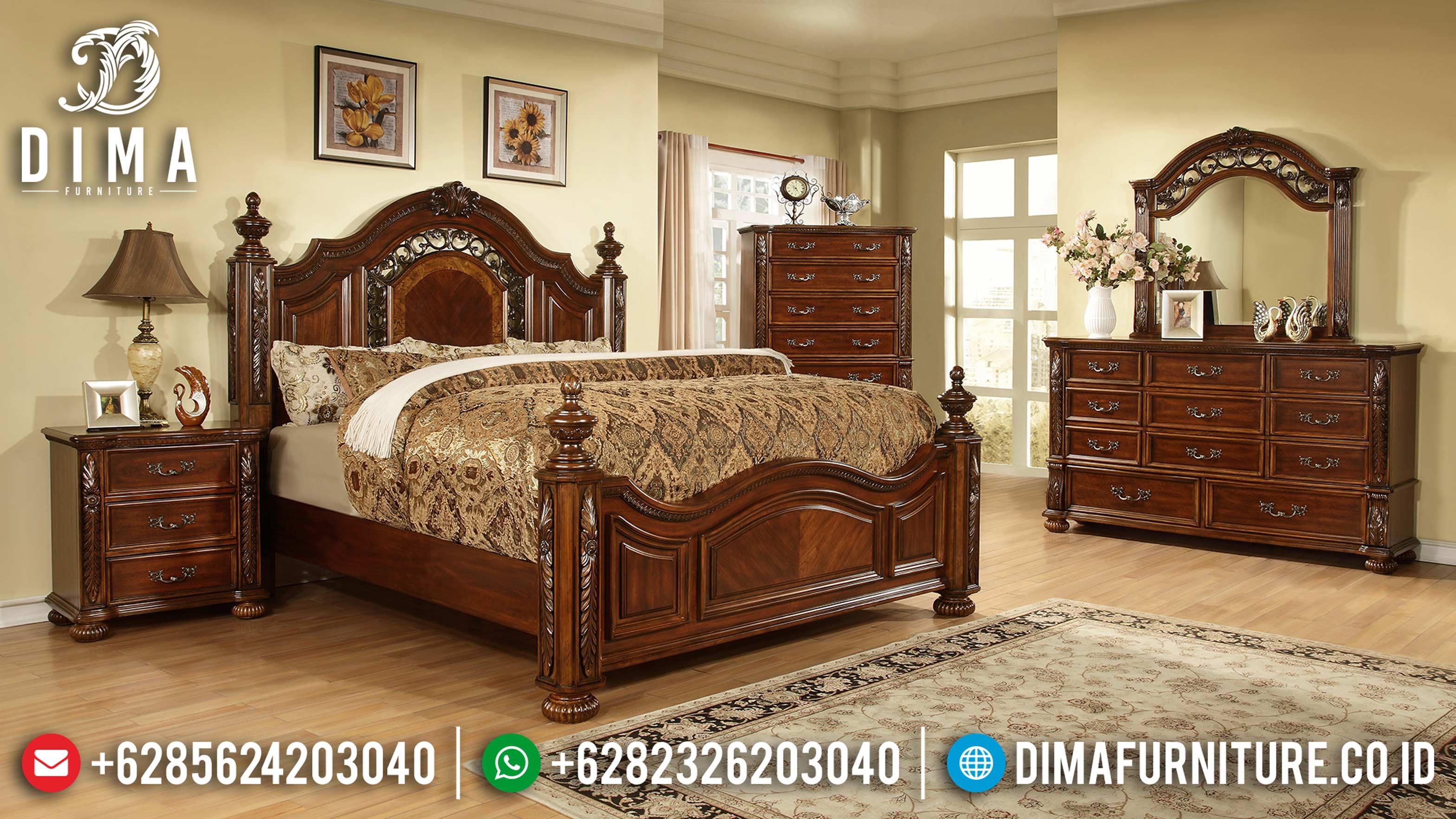 Set Tempat Tidur Jati Minimalis Modern Terbaru Mm-0571