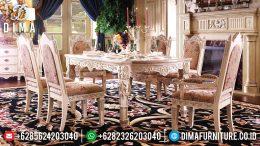 Set Meja Makan Ukir Mebel Jepara Klasik Mewah Terbaru MM-0584