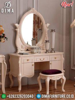 Jual Meja Rias Jepara Minimalis Duco Pearl White MM-0598