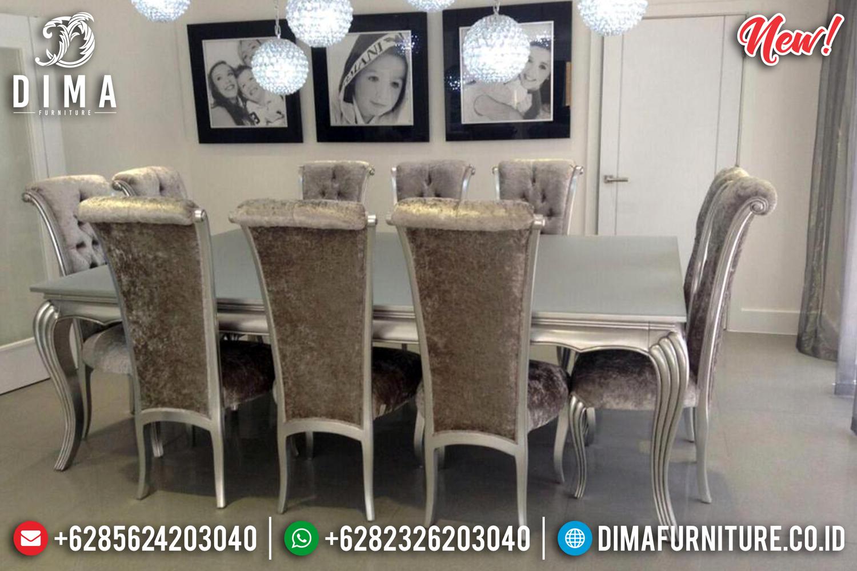 Meja Makan Jepara Duco Silver 10 Kursi Mm-0638