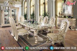 New Meja Makan 8 Kursi Duco Gold Kombinasi Silver MM-0613