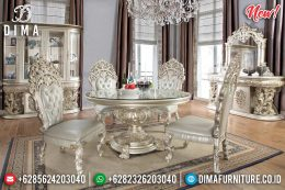 Set Meja Makan Jepara Luxurious Silver MM-0615
