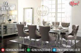 Set Meja Makan Minimalis Jepara Silver Titanium MM-0624