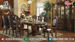 Terlaris Meja Makan Mewah Jati Ukiran Jepara MM-0658
