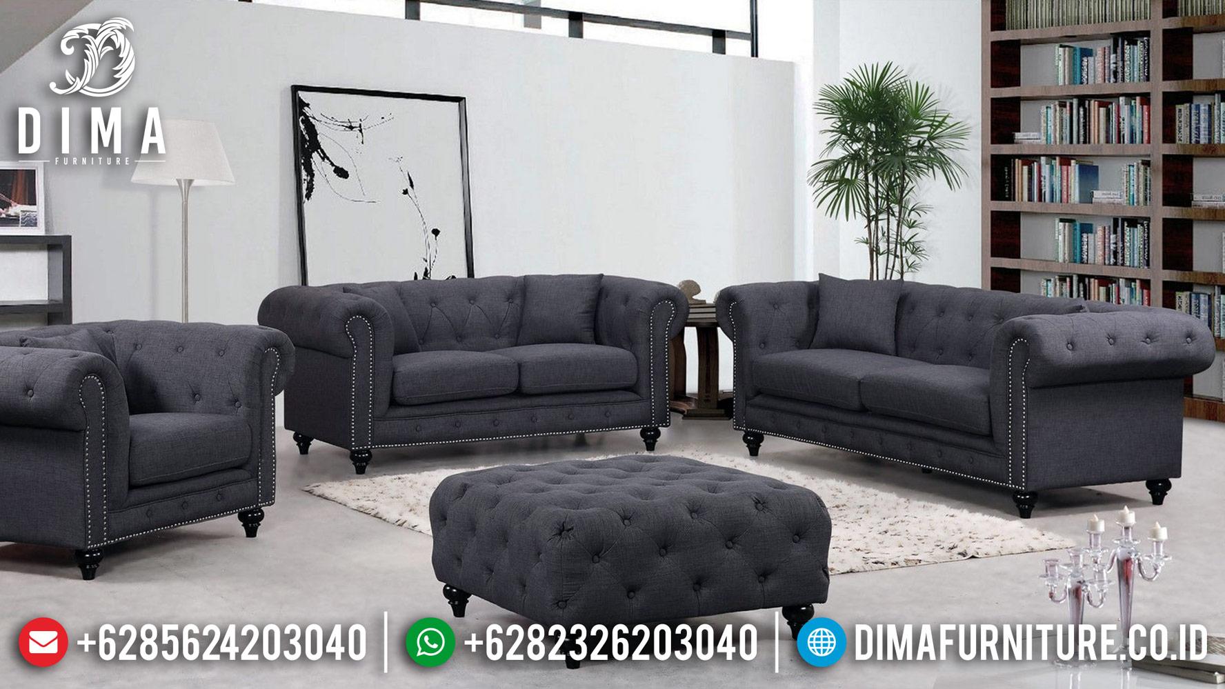 Desain Sofa Tamu Chesterfield Terbaru Modern Minimalis Luxury MM-0670