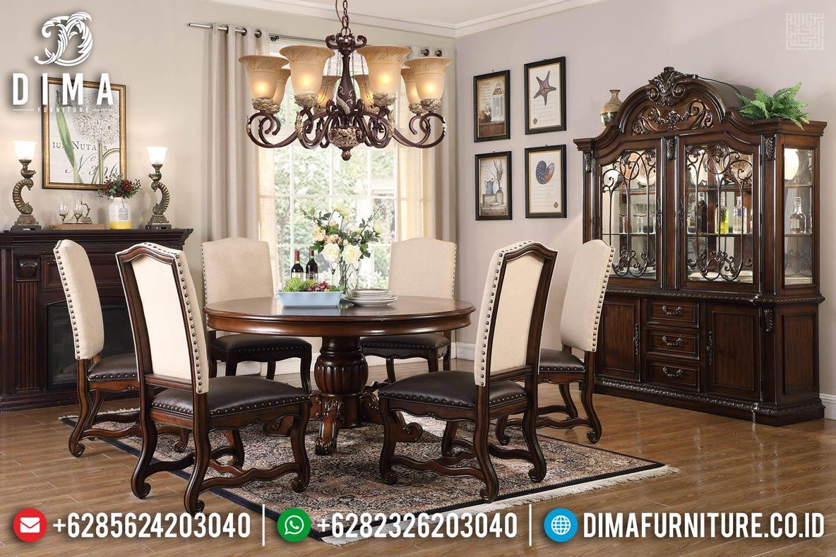 New Set Meja Makan Jati Natural Minimalis Furniture Jepara Terbaru MM-0664