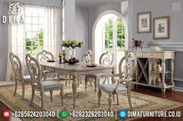 Set Kursi Meja Makan Rustic Vintage Ukiran Ulir Furniture Jepara MM-0666