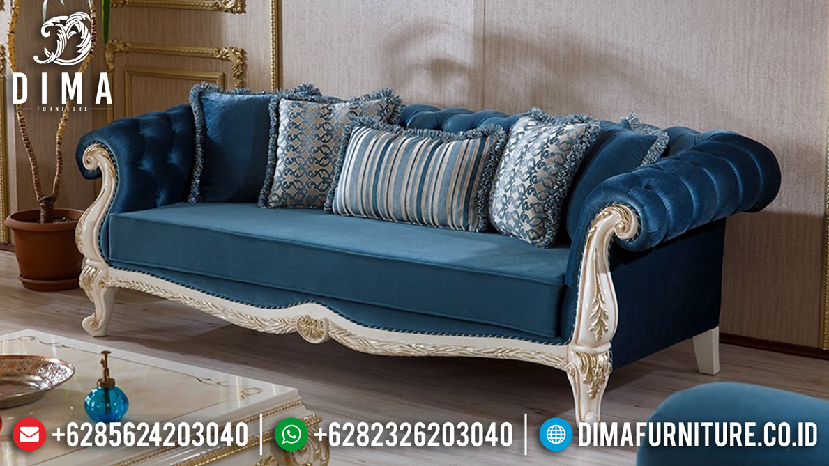Kursi Sofa Tamu Mewah 3 Seater Modern Carving Luxury Jepara MM-0693