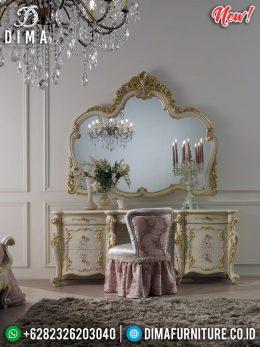Set Cermin Hias Ukiran Meja Rias Mewah Furniture Jepara MM-0679