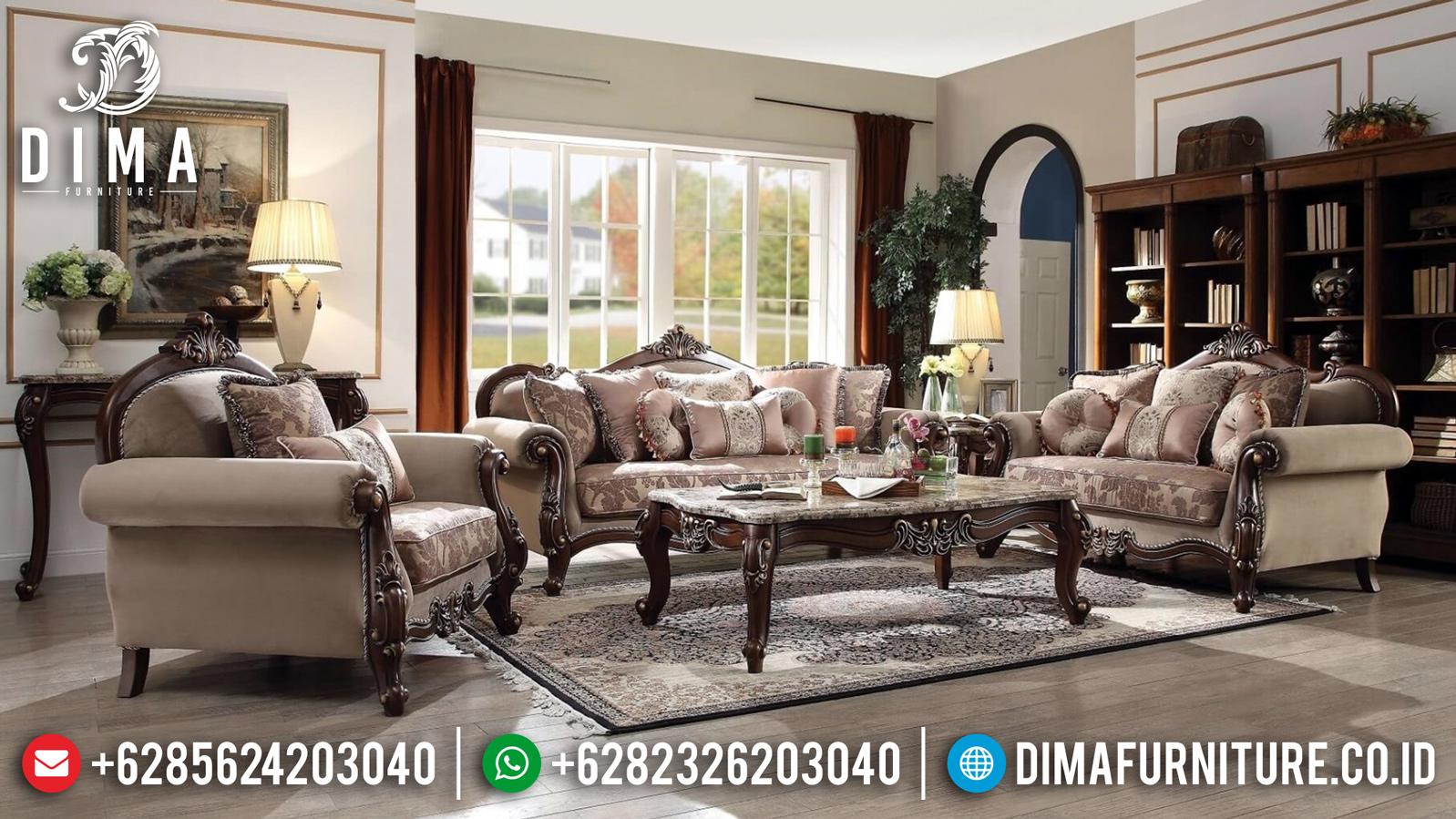 Sofa Tamu Mewah Eksklusif Ukiran Jepara Luxury Kualitas Terbaik Mm-0686