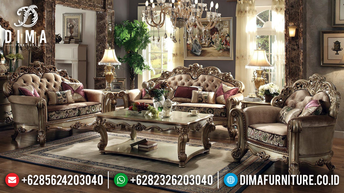 Sofa Tamu Mewah High Class Interior Design Living Room Luxury MM-0689