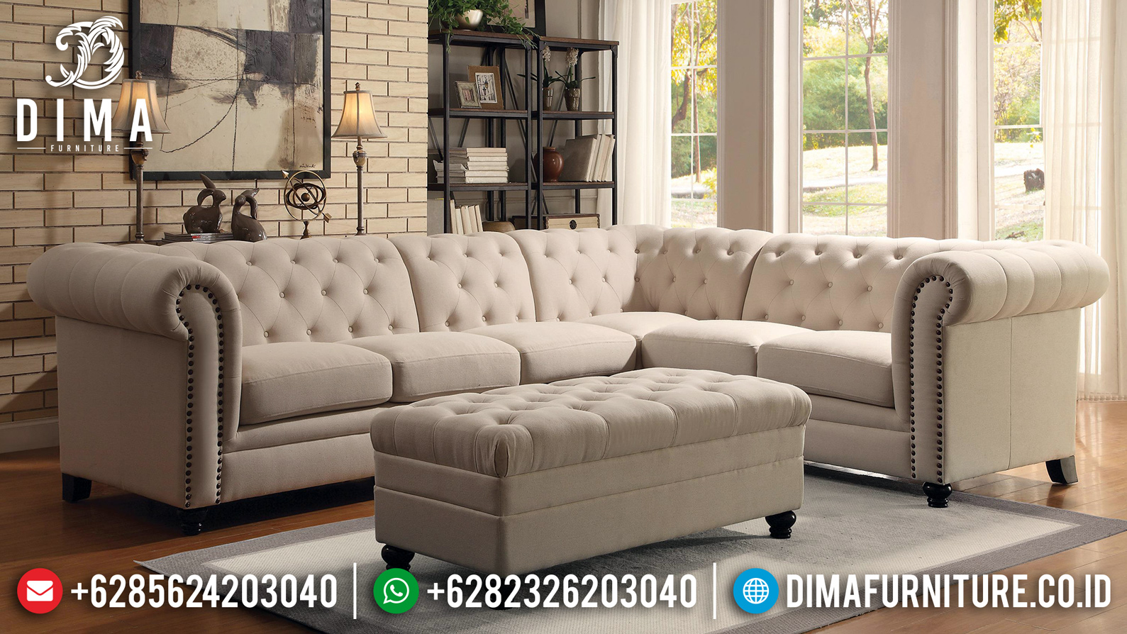 Sofa Tamu Minimalis Modern French Style Furniture Jepara MM-0694