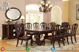 Best Sale Meja Makan Minimalis Klasik Natural Jati Interior Ideas Design MM-0727