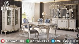 Best Wood Meja Makan Modern Design Mewah Luxurian Monarki Style MM-0702