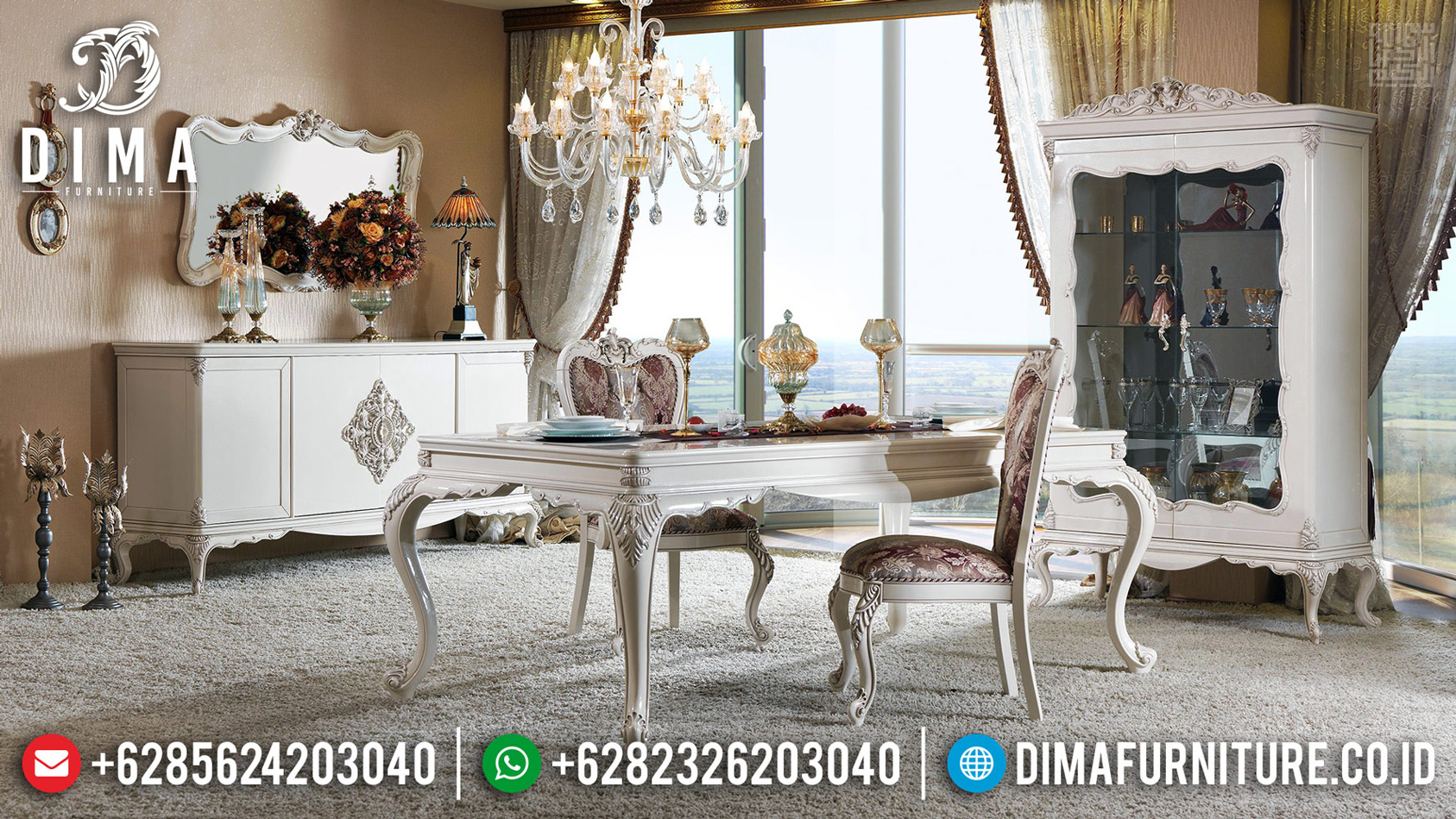 Discount Ramadhan Meja Makan Mewah Ukiran Classic Luxury New Design 2020 MM-0704