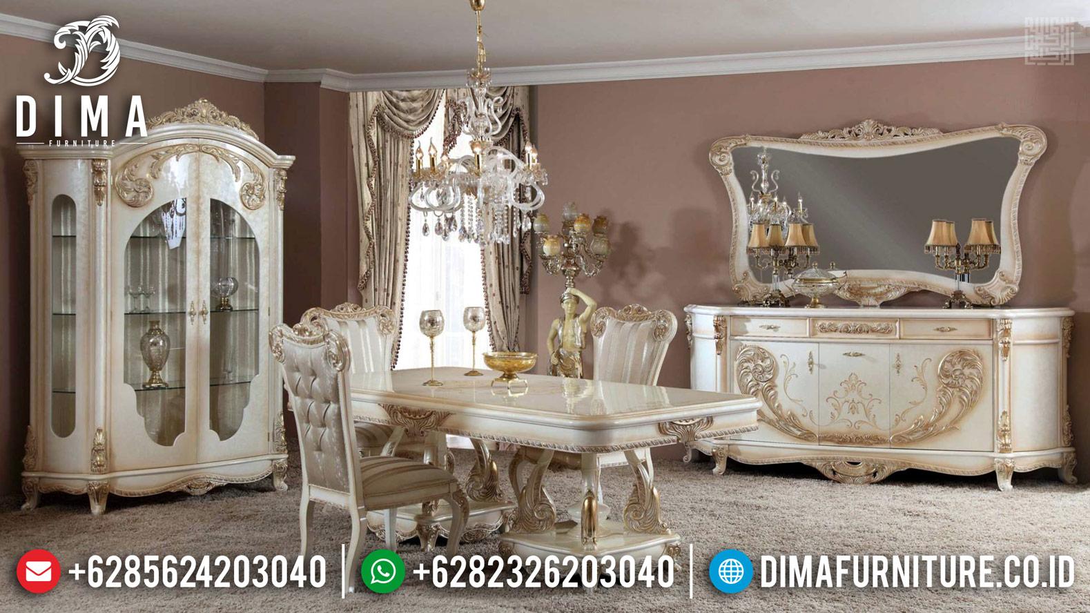 Get Sale Meja Makan Mewah Jepara Ukiran Luxury Elegant Special Bulan Ramadhan MM-0743