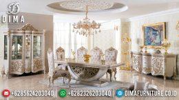 Grand Meja Makan Mewah Eksklusif Ukiran Jepara Luxurious New Desain 2020 MM-0698