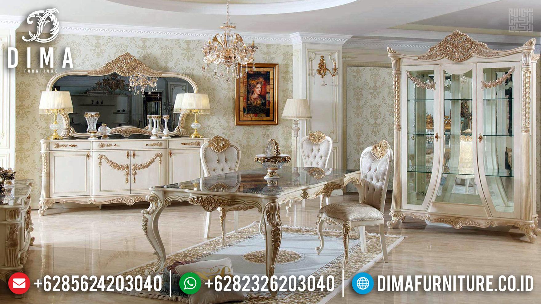 Harga Meja Makan Mewah Jepara Klasik Luxury Desain Berkualitas Mm-0738