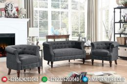 Harga Sofa Tamu Minimalis Natural Jati Kayu Perhutani Great Quality MM-0713