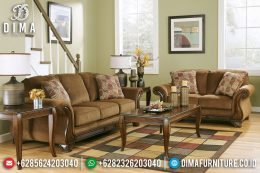 New Models Sofa Tamu Minimalis Klasik Natural Jati Amber Color Antique MM-0715