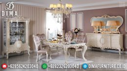 New Set Meja Makan Mewah 6 Kursi Ukiran Gold Leaf Luxury Classic Furniture MM-0740