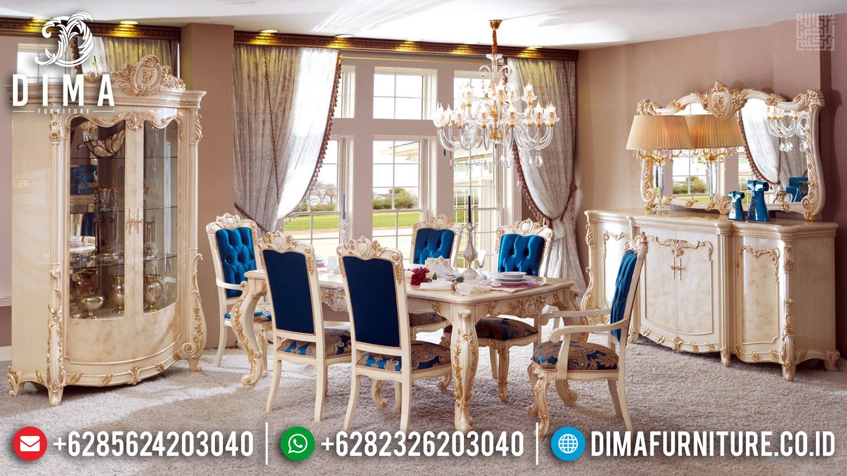 Set Kursi Makan Mewah, Meja Makan Ukiran Jepara Superior Luxury Mm-0701