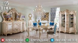 Set Meja Makan Mewah Luxury Klasik Ukiran Jepara Furniture Classic Elegant MM-0733