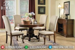 Set Meja Makan Minimalis 4 Kursi Natural Jati Furniture Jepara Murah MM-0728