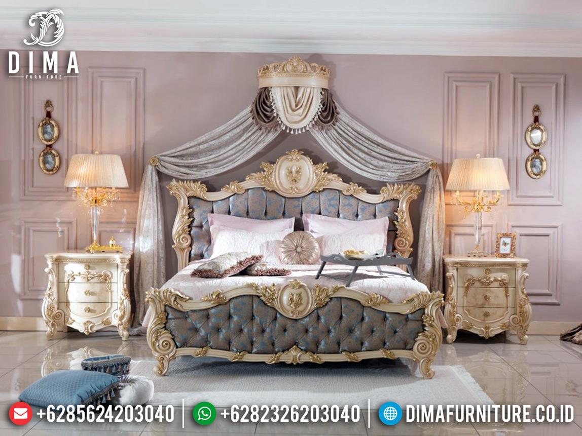 Tempat Tidur Mewah Jepara Luxury Classic New Release Harga Terjangkau MM-0708