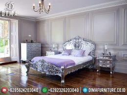 Tempat Tidur Mewah Klasik Silver Prodo Luxury Carving Furniture Jepara MM-0705