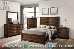 Tempat Tidur Minimalis Jati Natural Auburn Color Glossy New Release 2020 MM-0721