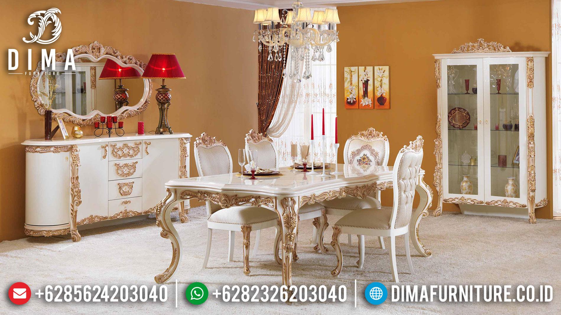 Harga Meja Makan Mewah Ukir Jepara Luxury Classic Elegant Design Mm-0753