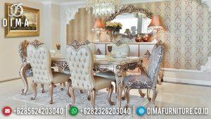 Inspiring Design Meja Makan Mewah Ukiran Luxury Silver Champagne Classic Model MM-0754